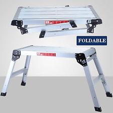 Folding Aluminum Bench Stool Ladder Drywall Step Up Platform Height off Ground
