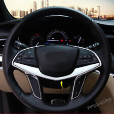 ABS Chrome Matte Steering Wheel Trim cover 1pcs For Cadillac XT5 2016 2017 2018