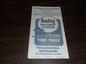 JUNE-1961-READING-COMPANY-PHILADELPHIA-BETHLEHEM-PA-PUBLIC-TIMETABLE