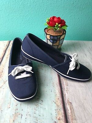 6.5 Catelina Sport Navy Blue Flats Obliging Grasshoppers Ortholite Size 6 1/2