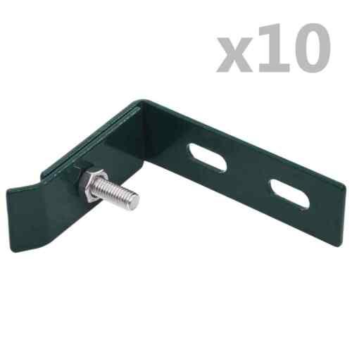 vidaXL Wandanschlusswinkel 10 Sets Grün Winkel Verbinder Gittermattenhalter