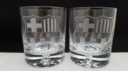 FC BARCELONA WHISKY GLASSES 2 x 250 ml .HIGH QUALITY!!!