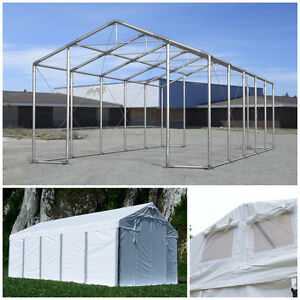 Das Bild Wird Geladen Lagerzelt 4x6 8x12m LAGERHALLE Ganzjaehrig INDUSTRIEZELT Carport NEU