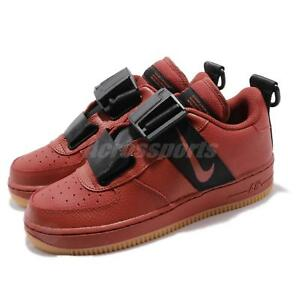 e1fc6c588 Nike Air Force 1 Utility GS AF1 Dune Red Black Kid Youth Women Shoes ...