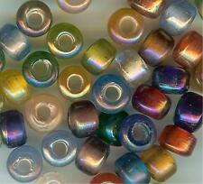 CROW/PONY GLASS BEAD - OPAQUE TRANSLUCENT LUSTER -  9mm - MIX - (100)