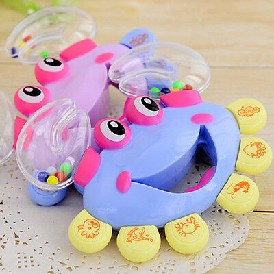 Hot Crab Musical Instrument Baby Kid Shaking Rattle Handbell Plastic Jingle Toy
