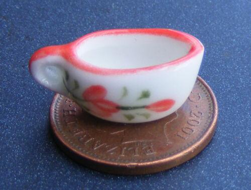 1:12 SCALA Brocca in ceramica con motivo floreale tumdee Casa delle Bambole Accessorio Cucina
