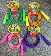 4 DELUXE NEON 7 FOOT JUMP ROPE toys TY317 jumping ropes summer classic toy NEW