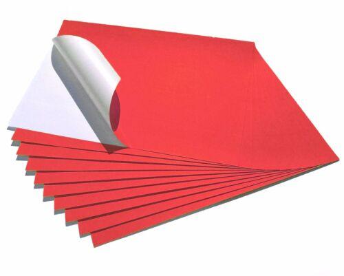 10 FOGLI A4 STAMPABILI MATT Neon Colore Adesivo Appiccicoso Adesivo Carta Da etichetta Craft