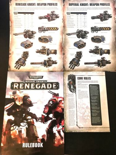 Imperial Knights Renegade règles//Fiches techniques//40k Basic Core Rules