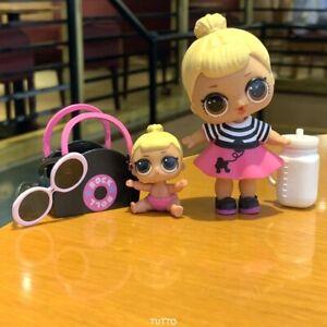 LOL-Surprise-Dolls-BIG-SISTER-amp-LiL-Sisters-SIS-SWING-with-bag-bottle-genuine