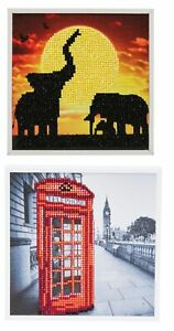 Craft-Buddy-20cm-x-20cm-Crystal-Art-Picture-Kit-Elephant-London-Red-Phone-Box