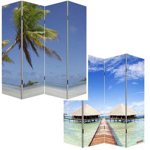 Separè immagine paravento 4 ante doppia immagine Separè spiaggia ea287f
