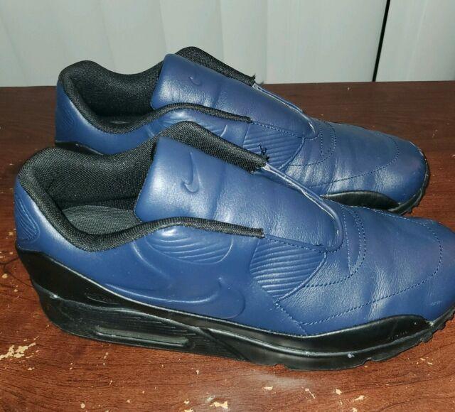 Womens Nike Air Max 90 SP Sacai NikeLab Obsidian Blue Black SZ 8.5 (804550 440)