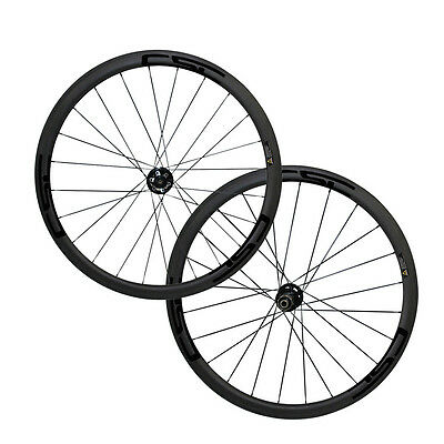 CSC 700C Disc road hub 38mm tubular carbon wheelset bicycle cyclocross wheels