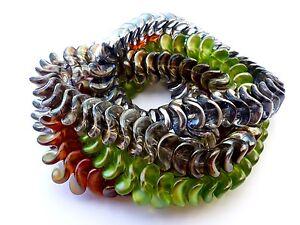 13-MM-TWISTED-DIAMOND-BICONE-INTERLOCKING-CZECH-GLASS-PRESSED-BEADS-20PCS