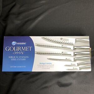 Hessler Gourmet Series Surgical Stainless Steel Cutlery Knife Set 7 Piece
