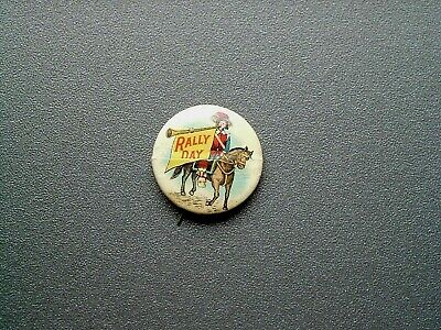 rally day vacation Bible school pin back button VBS pins religious pins Vintage pin back button