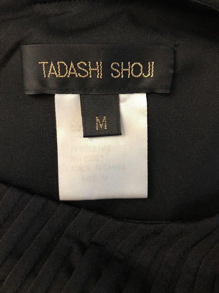 Tadashi Shoji Nero Pieghe Lavorato a Maglia Elasticizzato Elasticizzato Elasticizzato Vestito con Fodero 0e163c