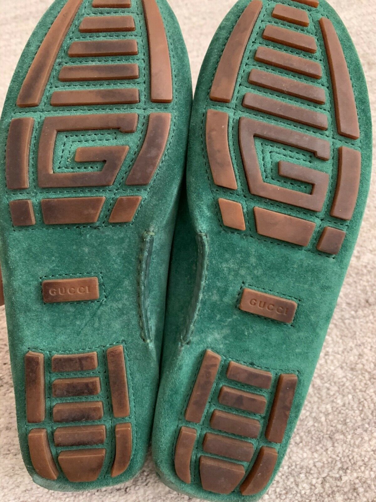 Gucci Suede Green Loafers - image 4
