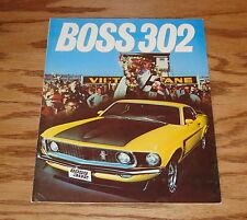 1969 Ford Mustang Boss 302 Foldout Sales Brochure 69