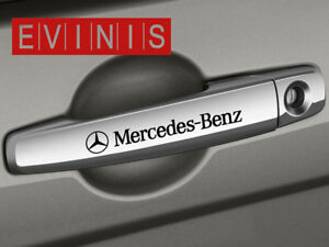 Image is loading MERCEDES-BENZ-SMALL-SYMBOL-DOOR-HANDLE-DECALS-STICKERS- & MERCEDES BENZ SMALL SYMBOL DOOR HANDLE DECALS STICKERS GRAPHICS X4 ...