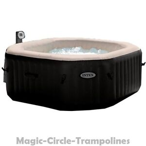 intex pure spa deluxe octagon whirlpool aufblasbar mit jets und bubble 4 person ebay. Black Bedroom Furniture Sets. Home Design Ideas