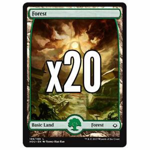 20x-Full-Art-Forest-Hour-of-Devastation-Magic-MTG-Mint-NM-Pack-Fresh