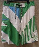 Quicksilver Men's Board Shorts -- Size 29,30 -- Color Green/ White