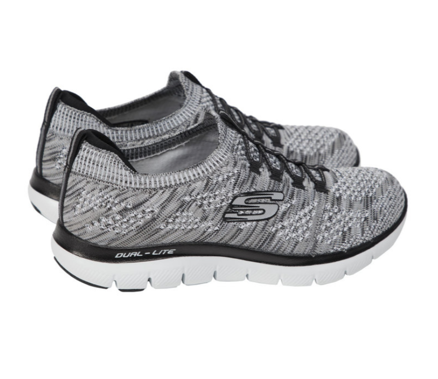 Ladies Skechers Flex Appeal 2.0 femmes Gris  Lightweight Memory Foam  Chaussures  6.5