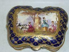 Coffret Sèvres XIX boite en porcelaine de Sèvres XIX