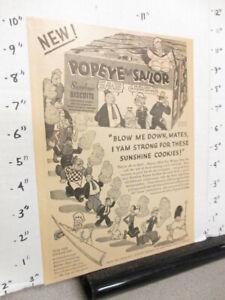 newspaper-ad-premium-1930s-POPEYE-Sunshine-comic-book-cookie-box-Loose-Wiles