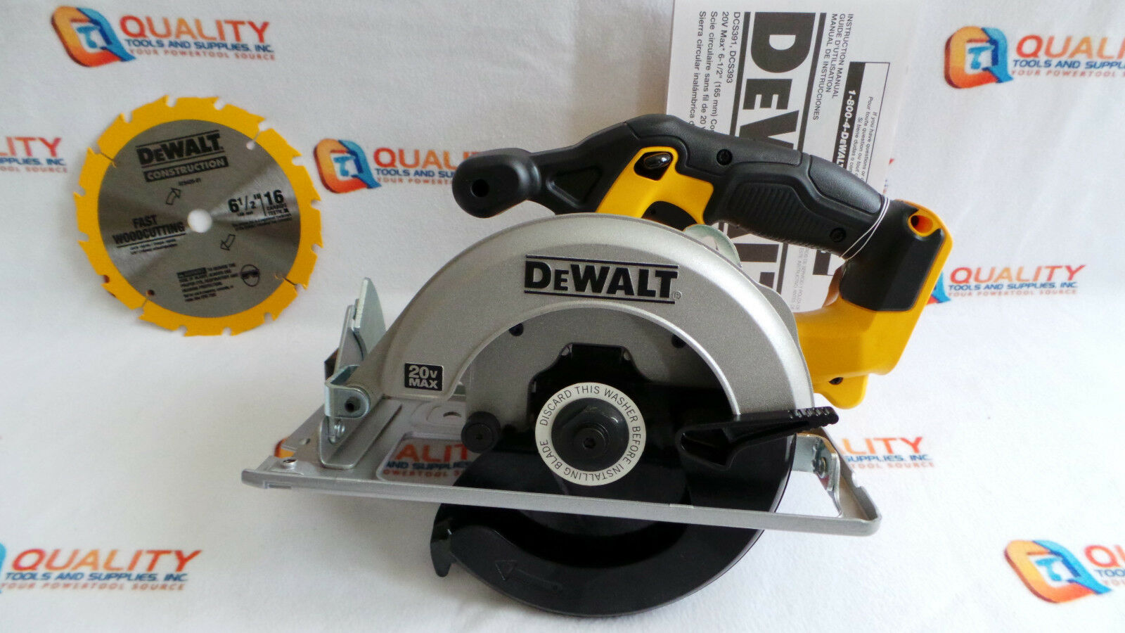 New Dewalt DCS393 20V Max Li-Ion 6-1/2