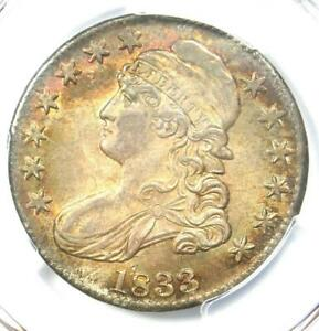 1833 Capped Bust Half Dollar 50C - PCGS MS64+ Plus Grade - $4,500 Value!