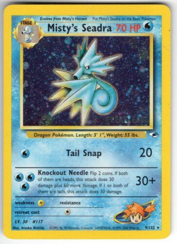 Misty/'s Seadra Pokemon Card Lightly Played Holo-foil 9//132 Gym Heroes