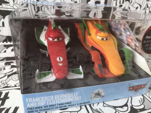 Disney Store Cars PullBack DieCast Francesco Bernoulli /& Rip Clutchgoneski BNWT