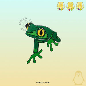 Green-Frog-Disney-Embroidered-Iron-On-Sew-On-Patch-Badge-For-Clothes-Bags-etc