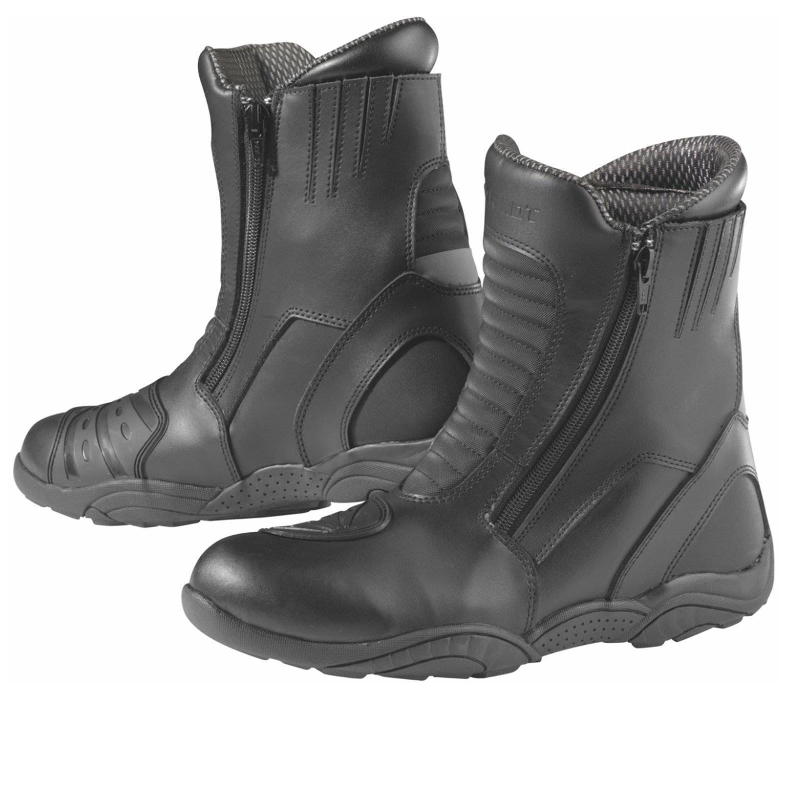 Germot Moto Stivali Trip Scarpe in Pelle Nero Protezione Caviglia ORTOPEDICO