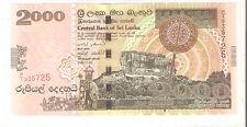 SRI LANKA 2005 2000 RUPEES UNC