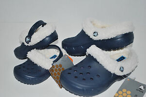 793b358df8e5e NWT CROCS MAMMOTH EVO CLOGS KIDS NAVY 8 9 10 11 12 13 1 ...
