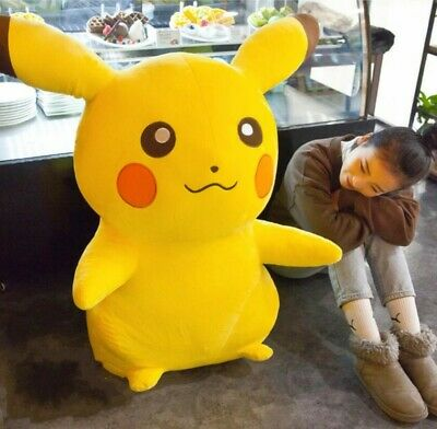 "Pokemon Pikachu Plush Stuffed Cushion Pillow 12.9/"" Collectible Toy UAS Seller"
