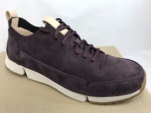 f88ee556b96b5c CLARKS Tri Spark Mens Lace-Up Trainers Sneakers Size 8.5 M Eggplant ...