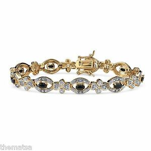 18K-GOLD-OVER-STERLING-SILVER-BLUE-SAPPHIRE-AND-DIAMOND-BRACELET