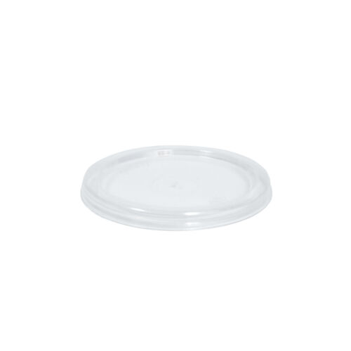 1000x Clear Plastic Sauce Container w Lid Round 60mL Disposable Condiments