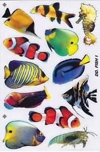 Details Zu N 497 Fische Tiere 1 Bogen 27 X 18 Cm Kinder Spielen Basteln Aufkleber Sticker