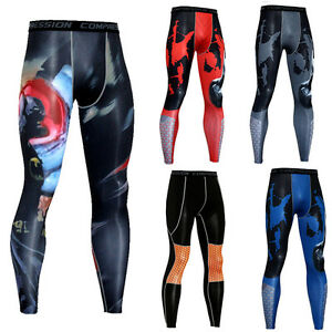 Men-039-s-Athletic-Compression-Long-Pants-Workout-Dri-fit-Base-Layer-Running-Tights