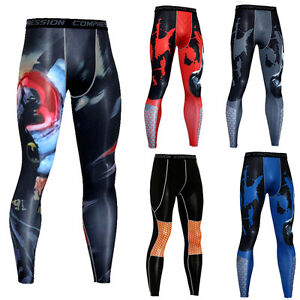 Men-039-s-Athletic-Compression-Long-Pants-Workout-Dry-fit-Base-Layer-Running-Tights