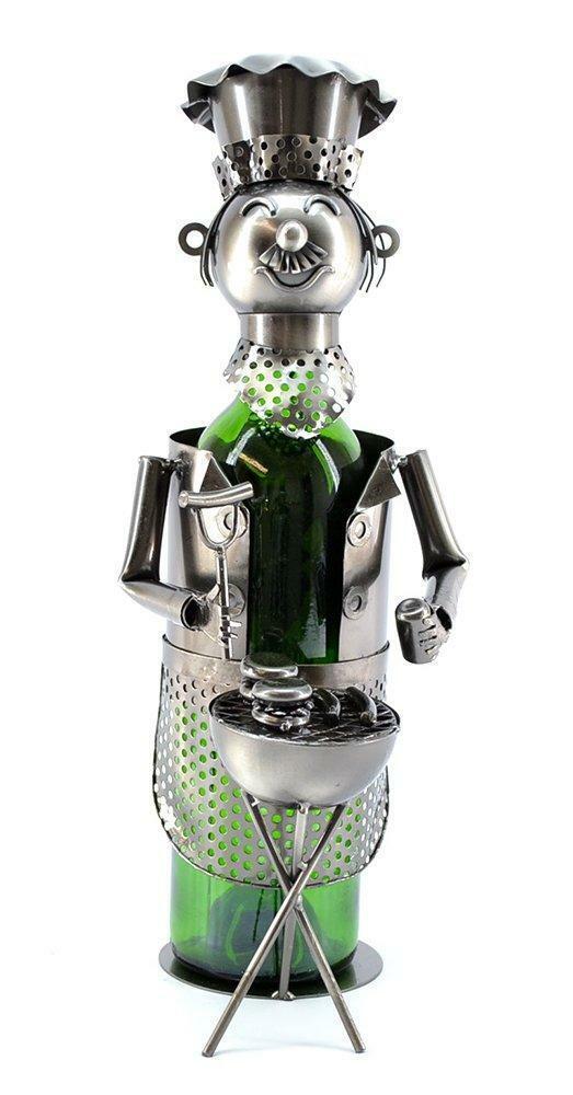 (D) porte bouteille vin barbecue, chef, bar comptoir Décoration