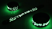 Demi Lovato NEW! Glow in the Dark Rubber Bracelet Wristband Let It Go vg188