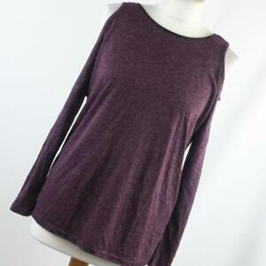 Primark-Womens-Size-10-Red-Textured-Basic-Tee